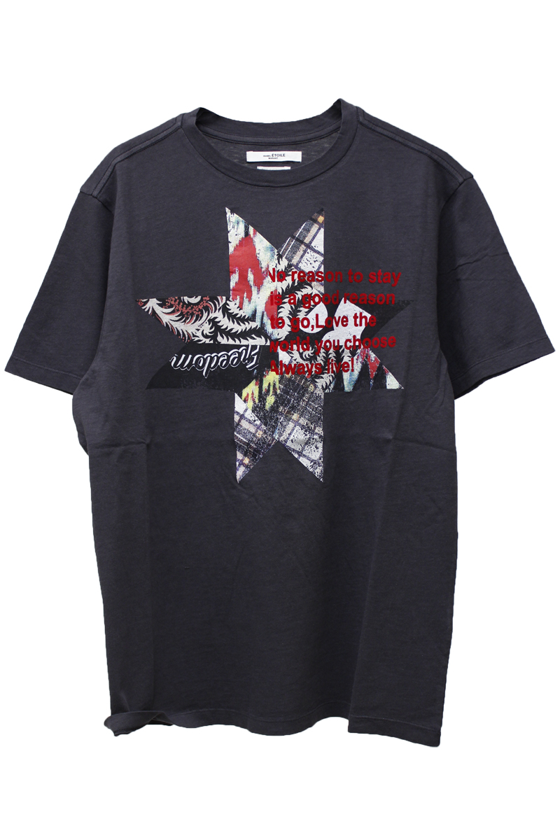 ISABEL MARANT ETOILE パネル柄プリントTシャツ【19SS】