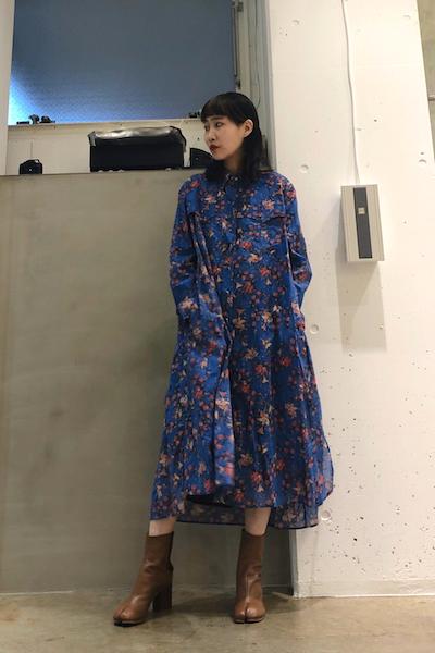 ISABEL MARANT ETOILE コットン花柄マキシ丈シャツワンピース【19SS】