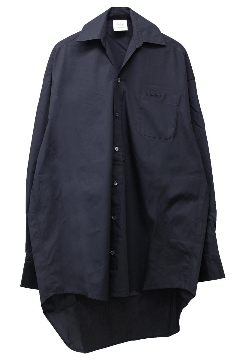 VETEMENTS コットンスモールカラーシャツ  (WOMEN'S) [19SS]