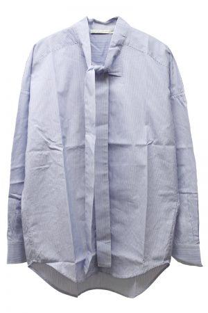QUEENE and BELLE ストライプボウタイシャツ [19SS]