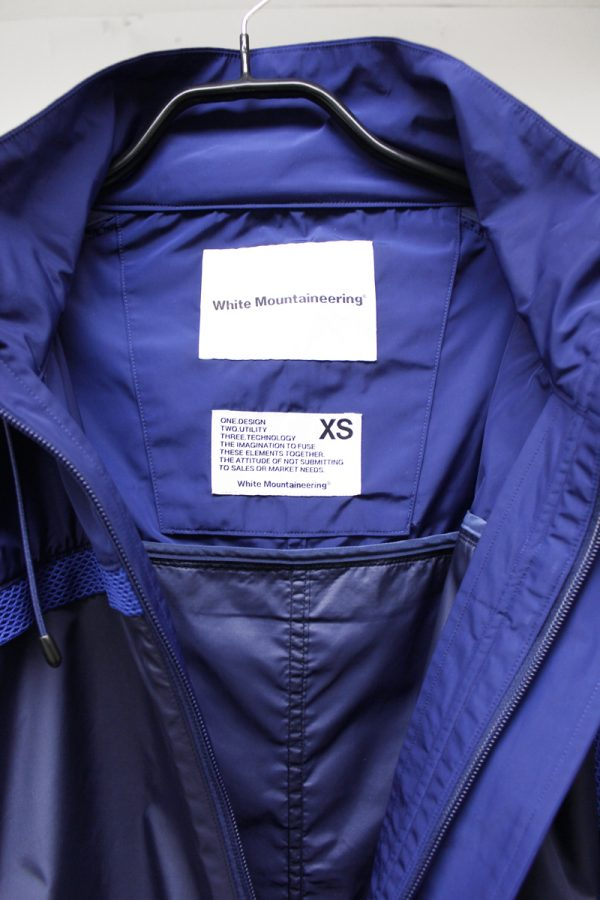 White Mountaineering メッシュテープ切替ロングコート【19SS】