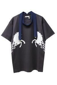 CHLOÉ タイ付ホースプリントTシャツ【19SS】