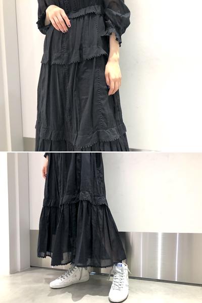 ISABEL MARANT ETOILE 刺繍フリルロングワンピース [19SS]