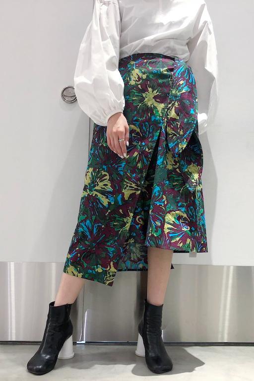 Lachement プリントラップスカート【19SS】