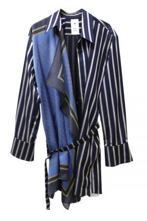 MIHARA YASUHIRO スカーフ×ストライプシャツ【19SS】