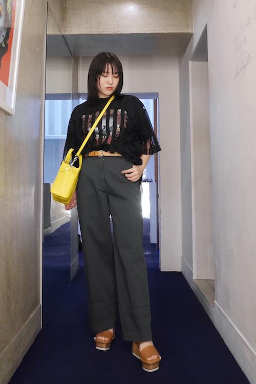 MIHARA YASUHIRO ストライプチュールTシャツ【19SS】