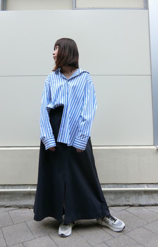 08 SIRCUS ストライプオーバーシャツ【19SS】