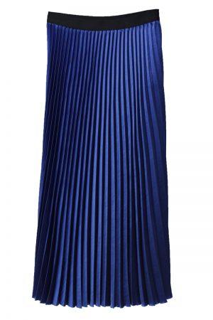 08 SIRCUS サテンプリーツロングスカート【19SS】
