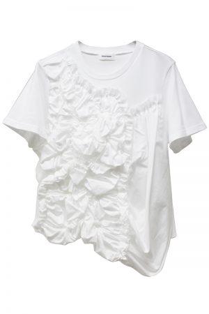 Chika Kisada フリル刺繍Tシャツ【19SS】