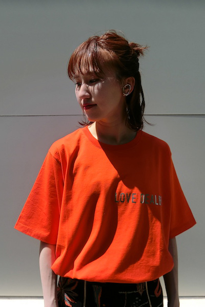 GOLDEN GOOSE DELUXE BRAND LOVE DEALER Tシャツ(ORANGE)【19SS】