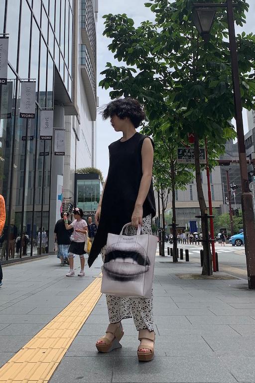 M/M ATTACHMENT アシンメトリーノースリーブトップス【19SS】