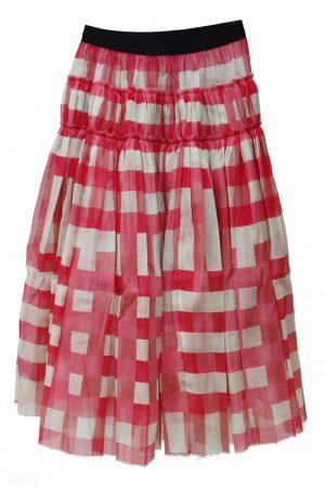 SARA LANZI チェックギャザースカート【19SS】