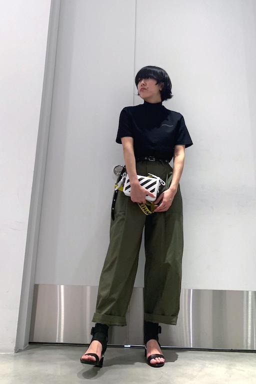 STAND ALONE チノワイドベイカーパンツ【19SS】
