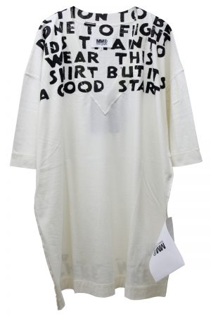 MM6 MAISON MARGIELA 【30%OFF】AIDSプリントビッグTシャツ [19SS]