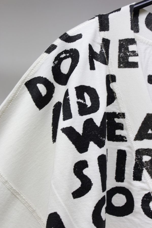 MM6 MAISON MARGIELA AIDSプリントビッグTシャツ [19SS]