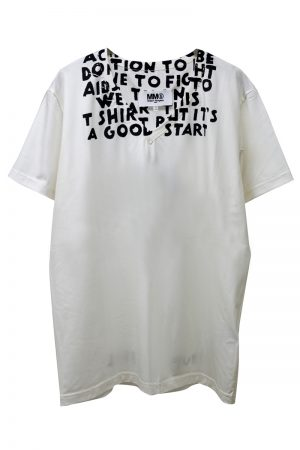 MM6 MAISON MARGIELA AIDSプリントTシャツ  [19SS]