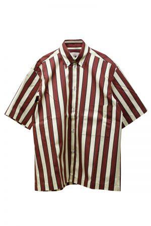 PLAN C ストライプボタンダウンシャツ [19SS]