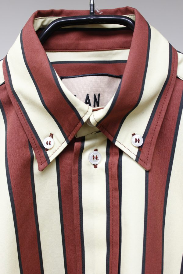 PLAN C 【50%OFF】ストライプボタンダウンシャツ [19SS]
