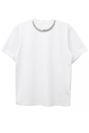 VICTORIA VICTORIA BECKHAM チェーンネックTシャツ【19SS】