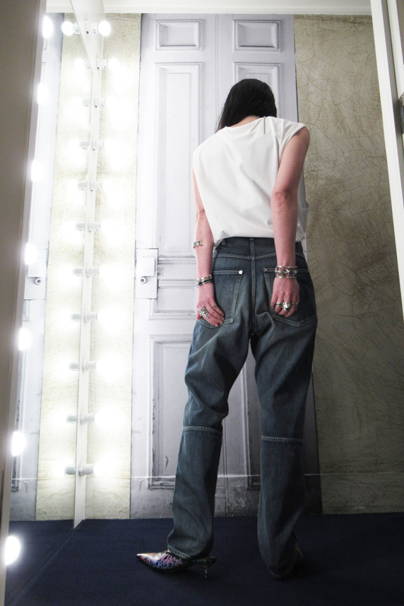 MAISON EUREKA 【40%OFF 】ハイウエストデニムパンツ [19SS]