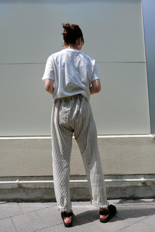 forte forte 【50%OFF】ラメストライプハイウエストパンツ【19SS】