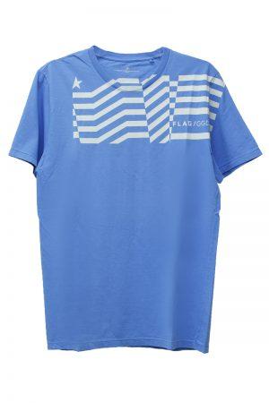 GOLDEN GOOSE DELUXE BRAND FLAGクルーネックTシャツ