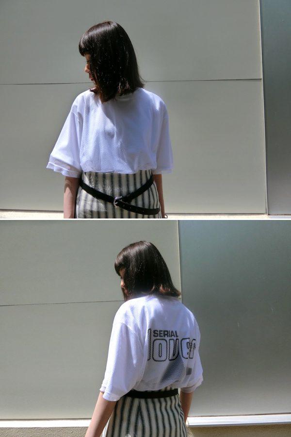 GOLDEN GOOSE DELUXE BRAND 【30%OFF 】ロゴプリントメッシュトップス【19SS】