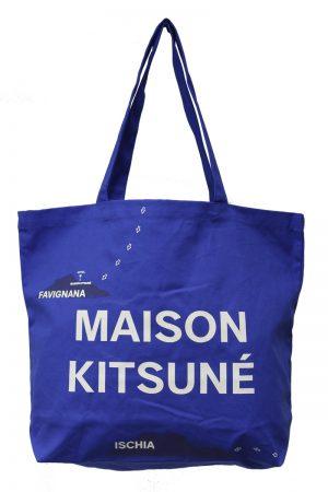 MAISON KITSUNÉ ロゴプリントトートバッグ【19SS】