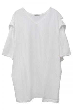 M/M ATTACHMENT VネックタックTシャツ [19SS]