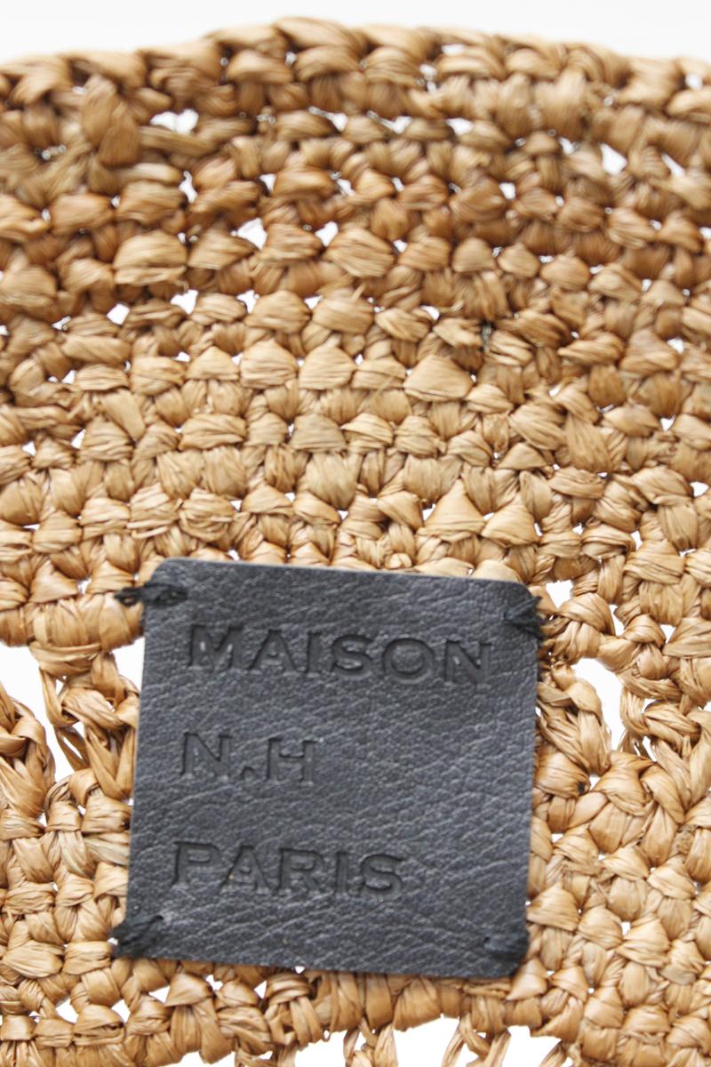 MAISON N.H PARIS サークルラフィアバッグ