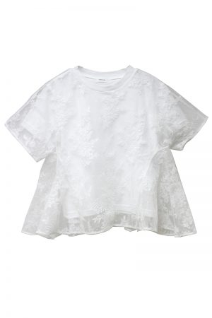 REKISAMI レイヤードレースTシャツ【19SS】