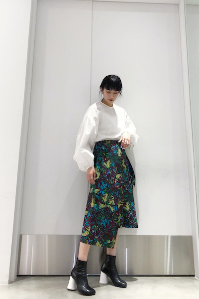 Lachement 【50%OFF】プリントラップスカート【19SS】