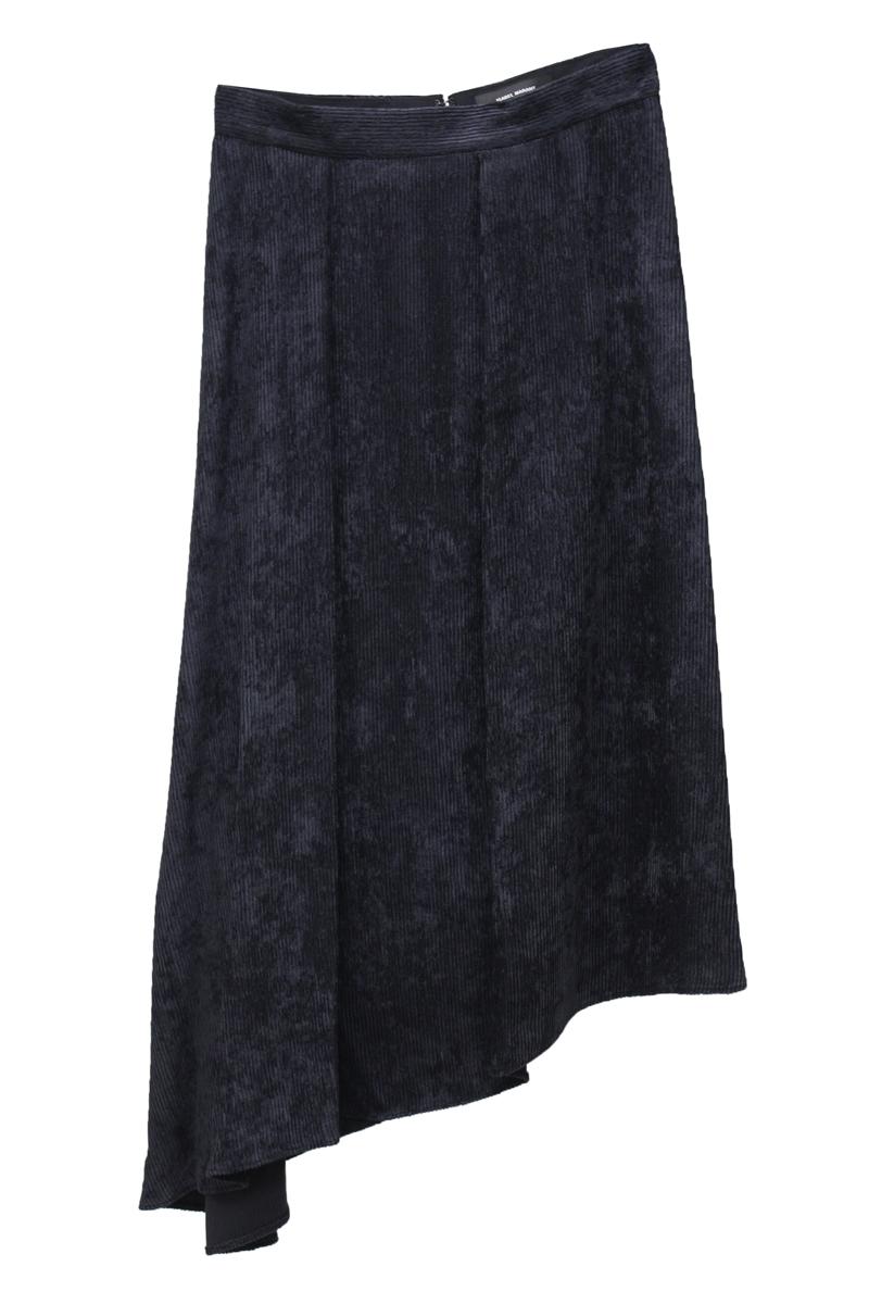 ISABEL MARANT 【40%OFF 】コーデュロイアシンメトリースカート [19AW]