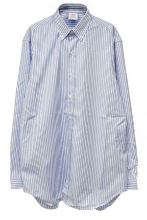 VETEMENTS 【40%OFF】バックプリントストライプシャツ【19AW】