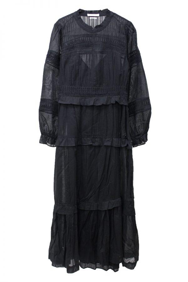 ISABEL MARANT ETOILE ピンタックロングドレス [19AW]