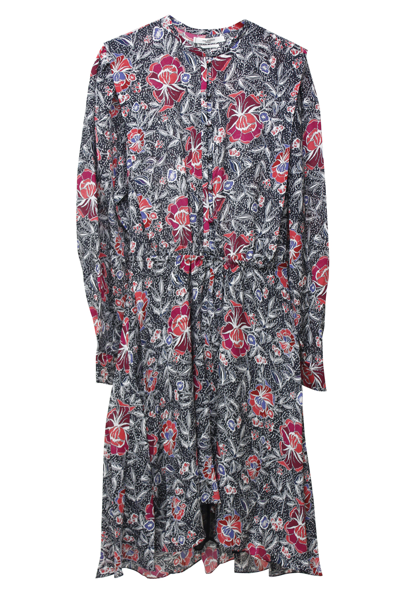 ISABEL MARANT ETOILE 【40%OFF 】総柄ウエストギャザーワンピース [19AW]
