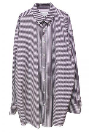 MAISON MARGIELA ストライプビッグシャツ[19AW]