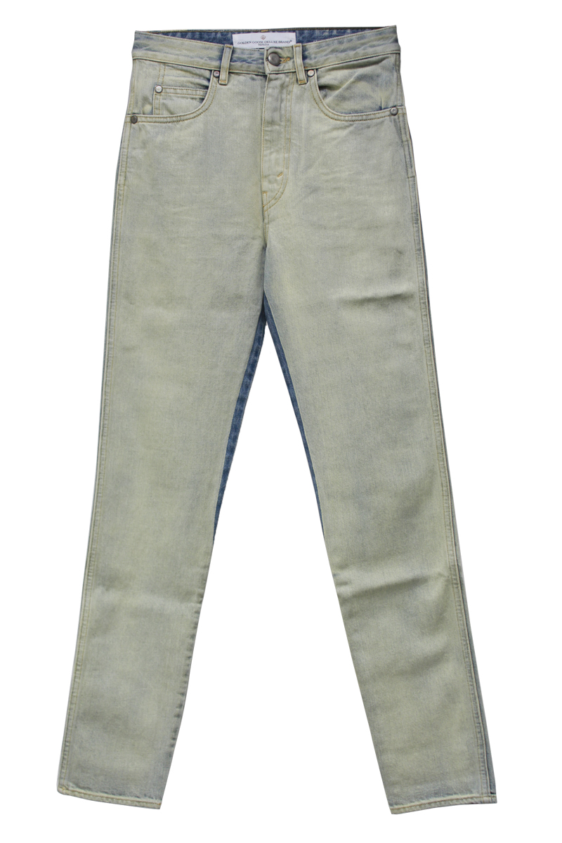 GOLDEN GOOSE DELUXE BRAND 加工ハイウエストスリムデニム [DENIM THELMA / LIGHIT BLUE WASHED]
