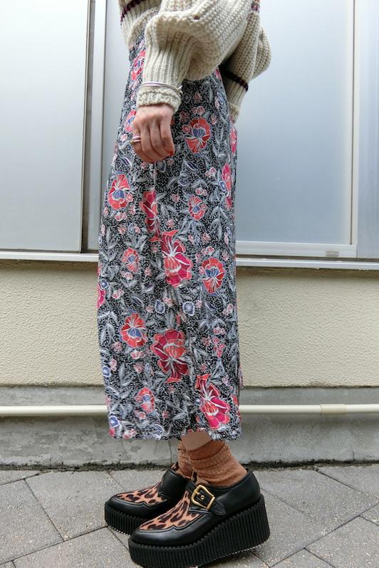 ISABEL MARANT ETOILE 【40%OFF】総柄アシンメトリースカート【19AW】