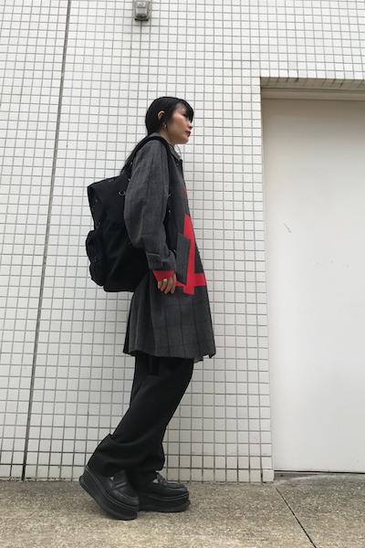 kolor テーピングチェック柄コート【19AW】
