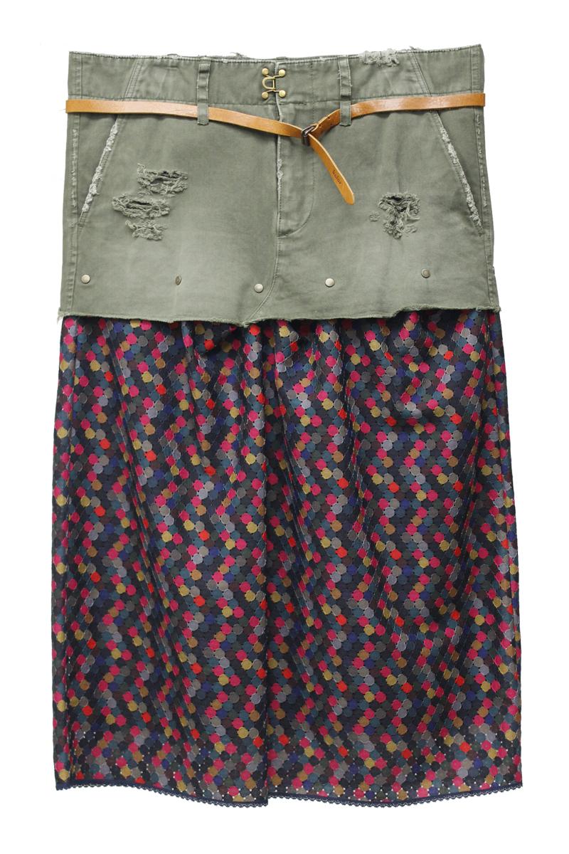 kolor 【40%OFF 】ベルト付切替スカート【19AW】