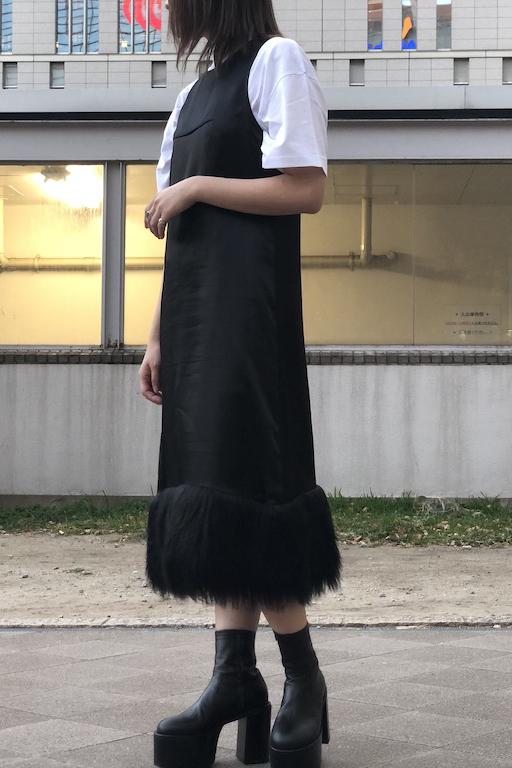 MM6 MAISON MARGIELA 【40%OFF 】裾ファーロングワンピース【19AW】