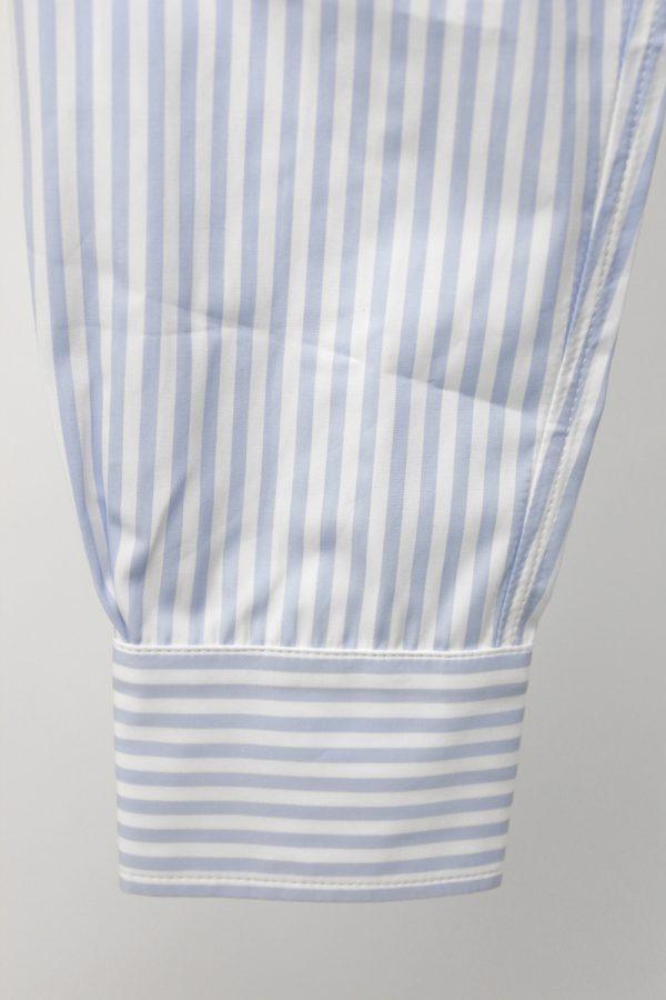 PLAN C ストライプオーバーシャツ【19AW】