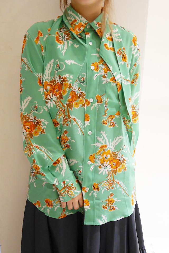 PLAN C 【40%OFF 】花柄ビッグカラーシャツ