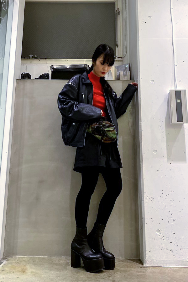 MAISON EUREKA 【40%OFF 】レザーフライトジャケット【19AW】