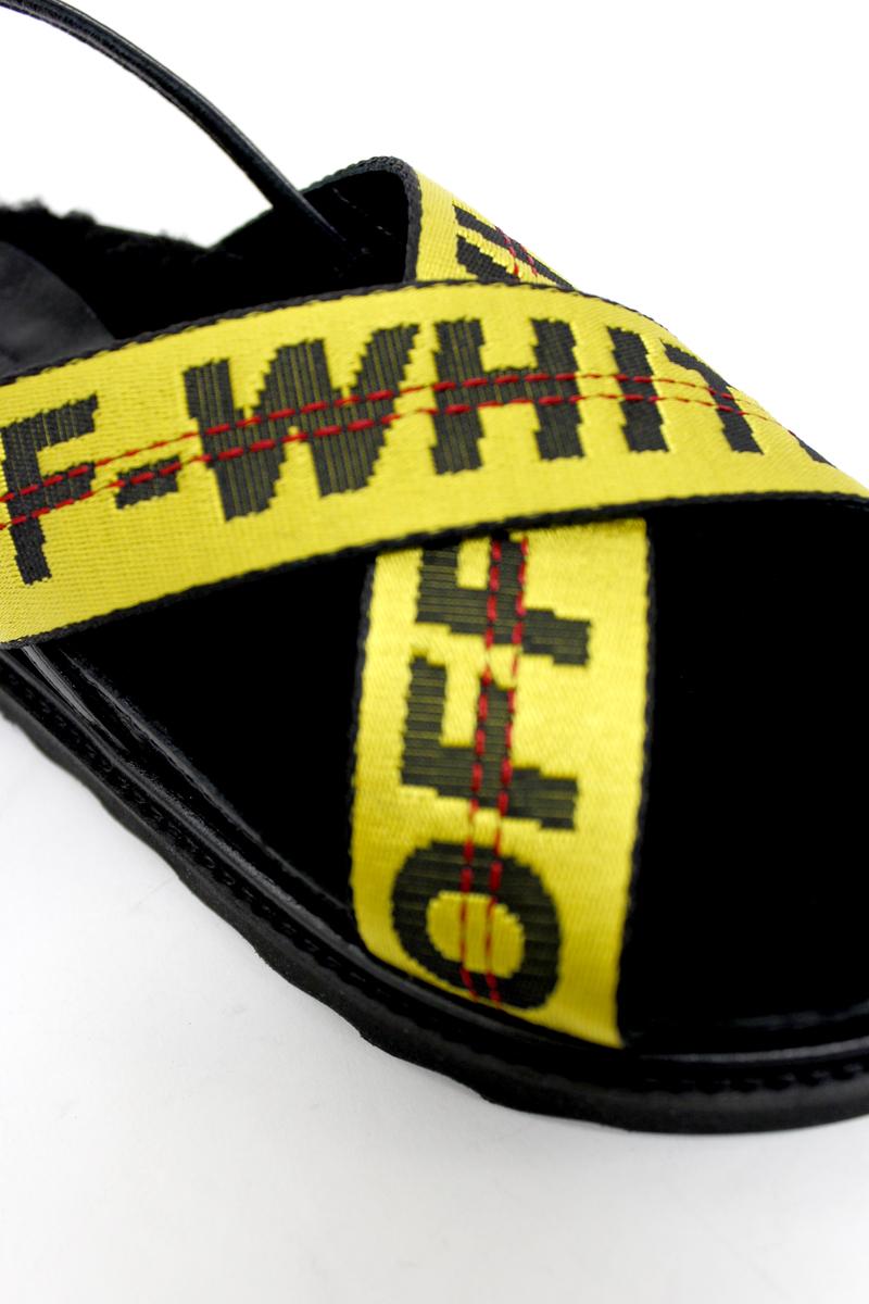 OFF-WHITE ロゴフラットサンダル