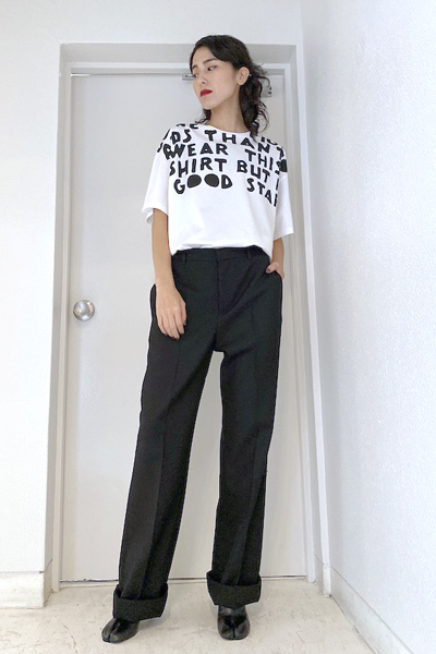 MAISON MARGIELA ビッグロゴAIDS Tシャツ[19AW]