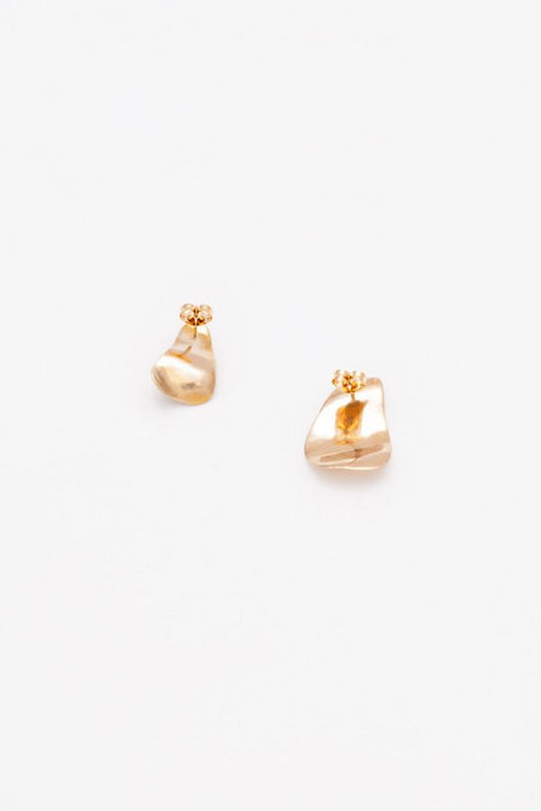 SASAI jewelry Iso-Petal Earring (GOLD) [19AW]