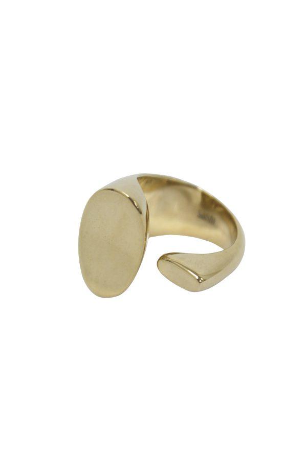 SASAI jewelry Inversion Cuff Ring (GOLD) [19AW]