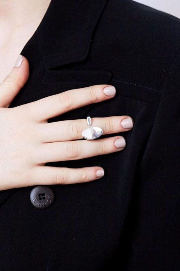 SASAI jewelry Inversion Cuff Ring (SILVER) [19AW]
